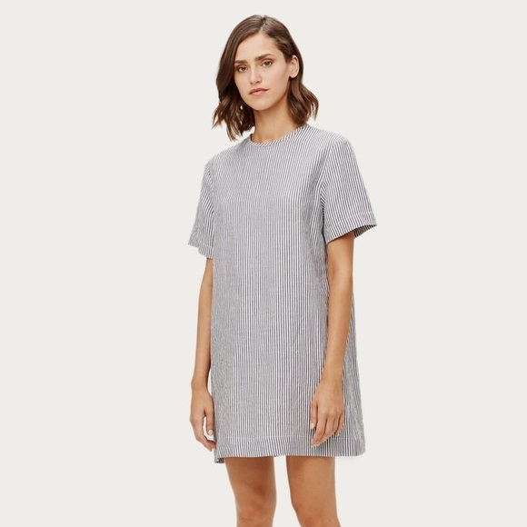 afebeb7068 NWT Jenni Kayne pinstripe T-Shirt Dress